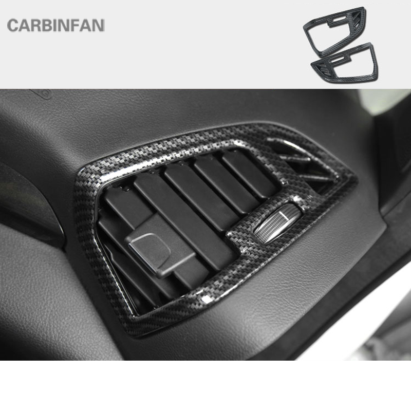 2PCS Carbon fiber Rearview mirro decorative frame For Ford Kuga Escape 2013-2017