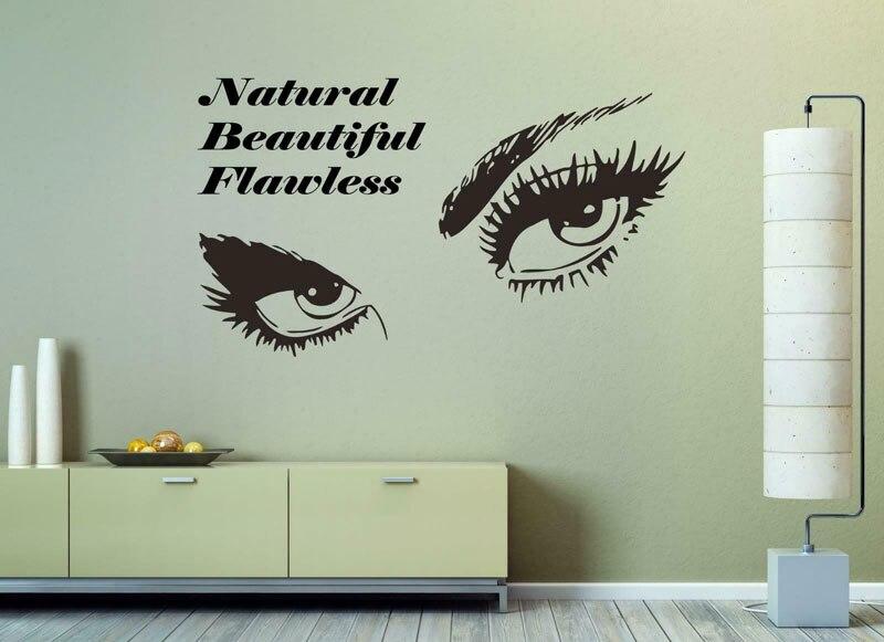 Vinyl girl eyelashes eye wall stickers eyes decals beauty salon, fashion girl, room living decoration decal  NH20