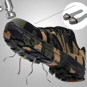 MOSHU Work Boots Steel Toe Cap Men Camouflage Safety Shoes