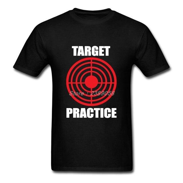 6277b0e498 New Coming Men T Shirt Target Pratice T-Shirt High Quality Unique Print  Short Sleeve
