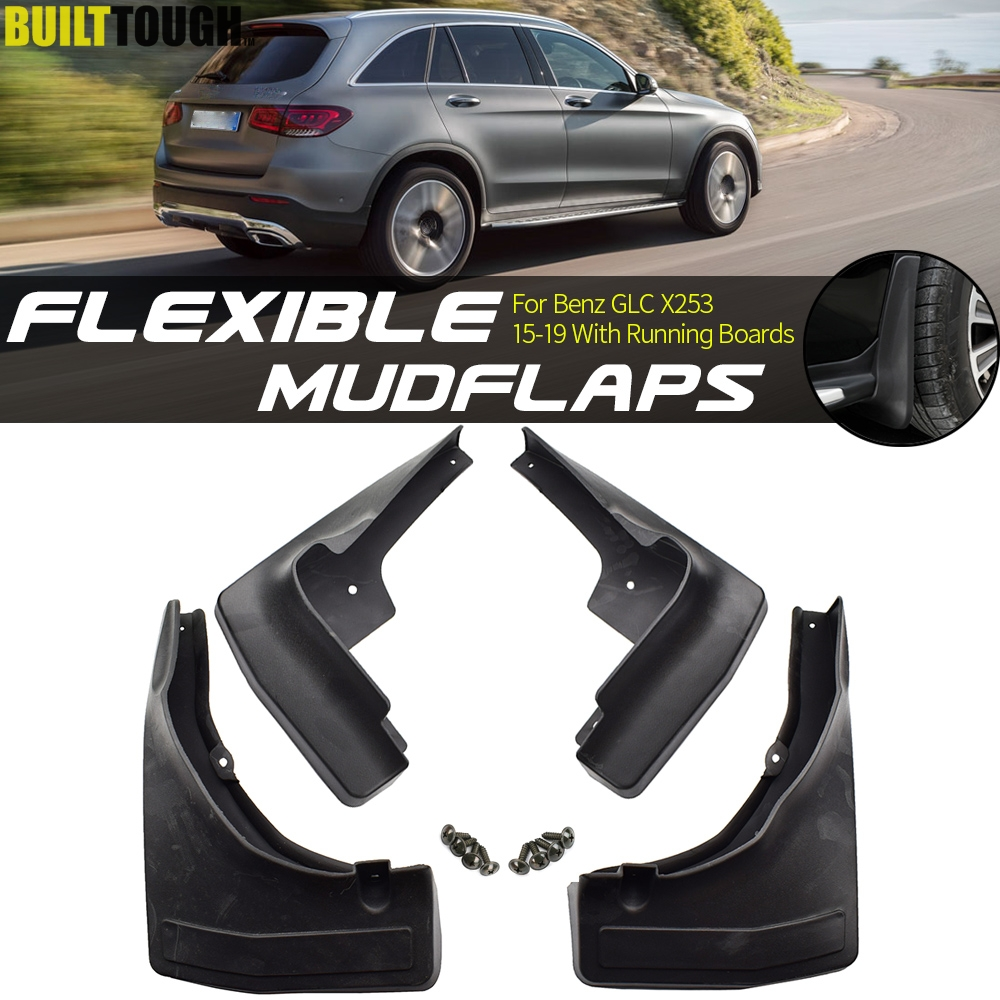 4pcs Mud Flaps Fit For Volvo XC60 14-16 Front Rear Splash Guard Fender Mudguard