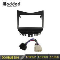 Double Din Fascia for Honda Accord 2002 2007 Radio DVD Stereo CD Panel With ISO Wiring Harness Trim Kit Face Frame