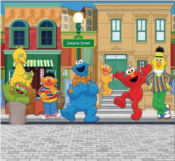 5x7FT Sesame Street Pavement Elmo World Shop Custom