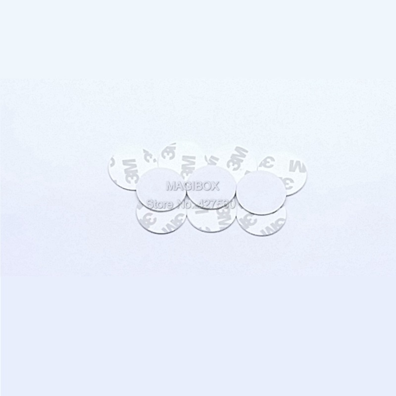 10pcs/lot 13.56MHz NTAG216 NFC tags NTAG216 Electronic tags NFC white round cards