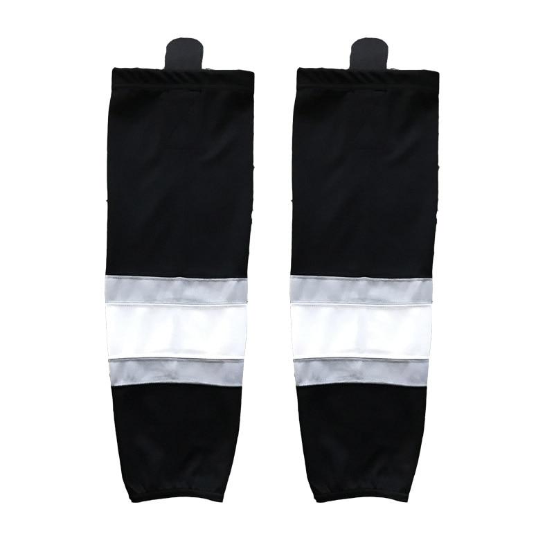 Prix pour COLDINDOOR 100% Polyester noir Chaussettes de Hockey Sur Glace Pas Cher Shin Gardes XW012