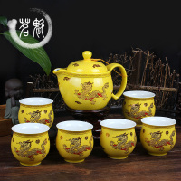 Ceramic Tea Set,Blue and white porcelain KungFu Teapot and teasets