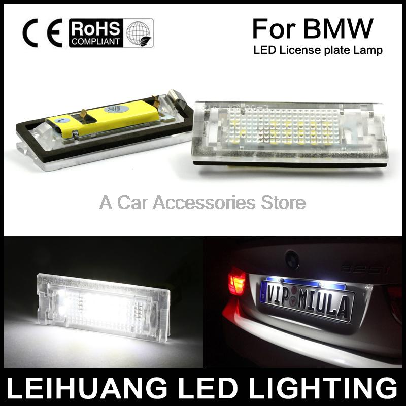 2x Error Free LED Number License Plate Light For BMW E39 5D 5 Door Wagon Touring 2x 24 smd led error free license plate light for bmw 1 series e82 e88 e39 e61n car light source