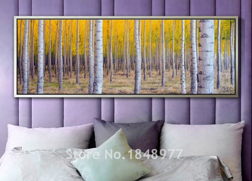 Large Modern Wall Art Birch Tree Home Decoration Printed Work Rhaliexpress: Paintings For Living Room With Birch Trees At Home Improvement Advice