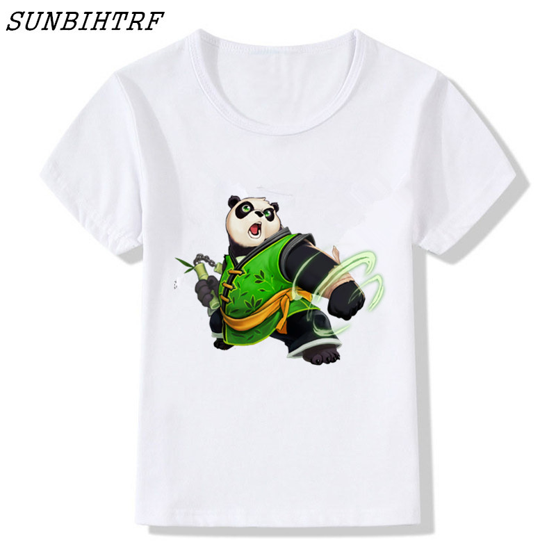 Adaptable Sunbihtrf Newest 2018 Boys/girls Fashion Short Sleeve Cute Panda Printed T-shirt Harajuku Funny Tee Shirts O-neck Tops