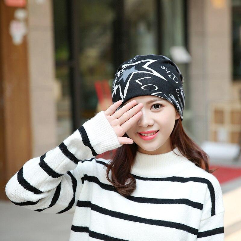 2019 New Simple Fashion Headwear Women's hats Female Winter Caps Star hats ladies spring and autumn Hip-hot   Skullies     Beanies
