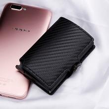Luxury Carbon Fiber Mini Pop Up Rfid Wallet for Men