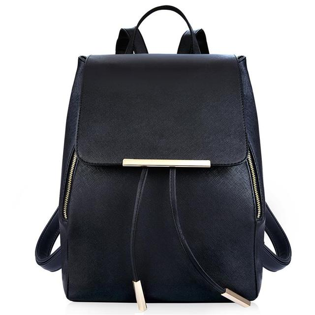 Preppy Style Ladies Drawstring Backpacks PU Leather School Bags For  Teenagers Girls Woman Backpack Anti-theft Bookbag 0a467b186673f