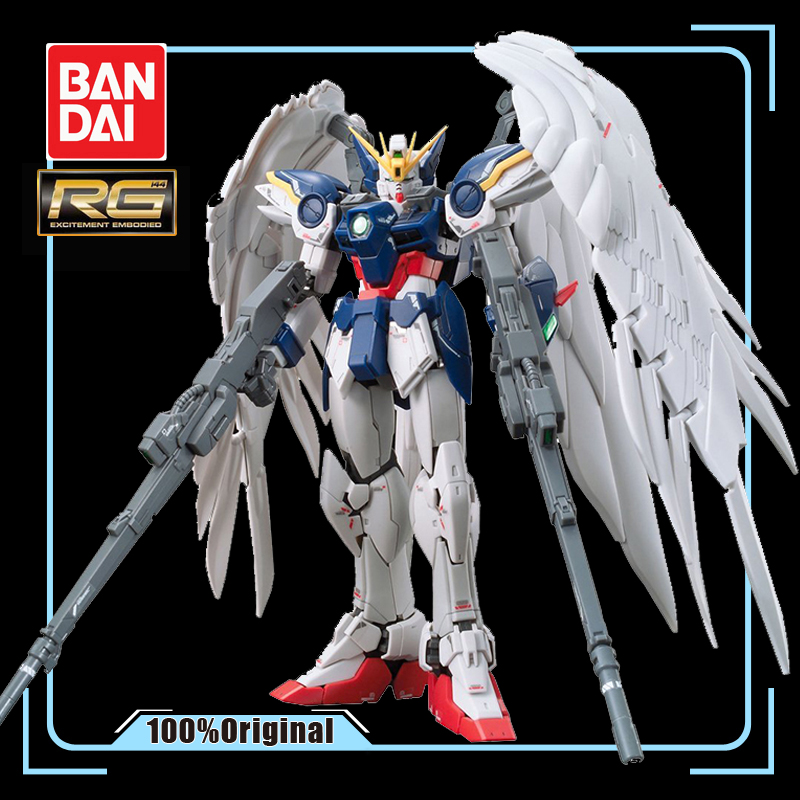 BANDAI RG 1/144 New Mobile Report Gundam XXXG-00W0 W-Gundam Zero Custom Effects Action Figure Model Modification