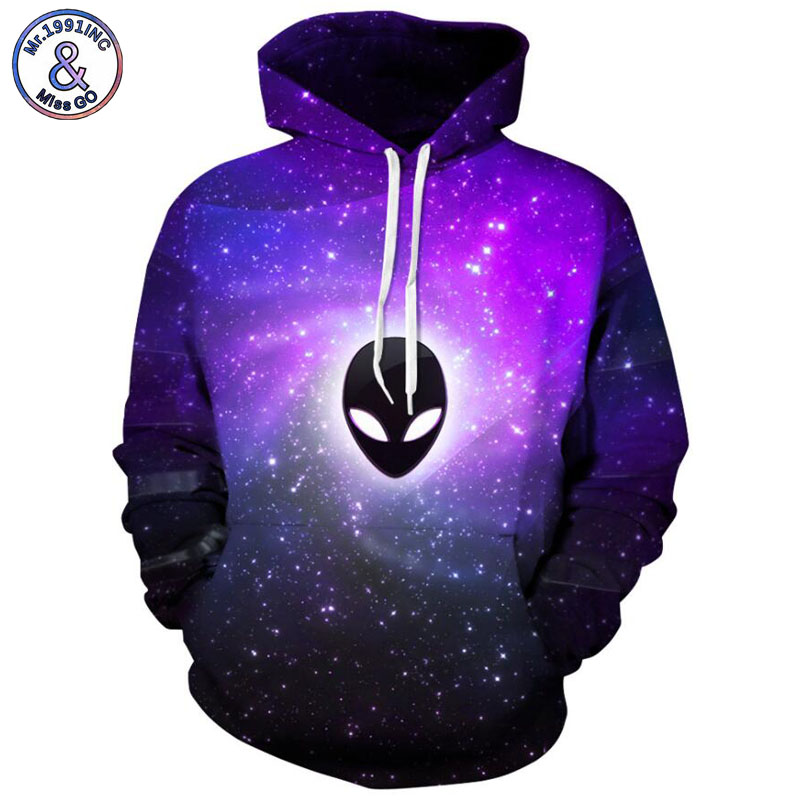 Mr.1991INC 2018 new Ghost starry sky printing 3d Sweatshirts Men hoodie sweatshirt Casual Hooded Pullovers Men Hoodies M106