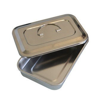 1Pc Stainless steel ware disinfection tray cassette cover plates 9 inch surgical dental box medical health care supplies