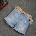 Venta estilo de la Marca del verano muchachas de los Bebés pantalones cortos demin de los niños pantalones vaqueros niños pantalones cortos vaqueros 2-10Y Freeshpping