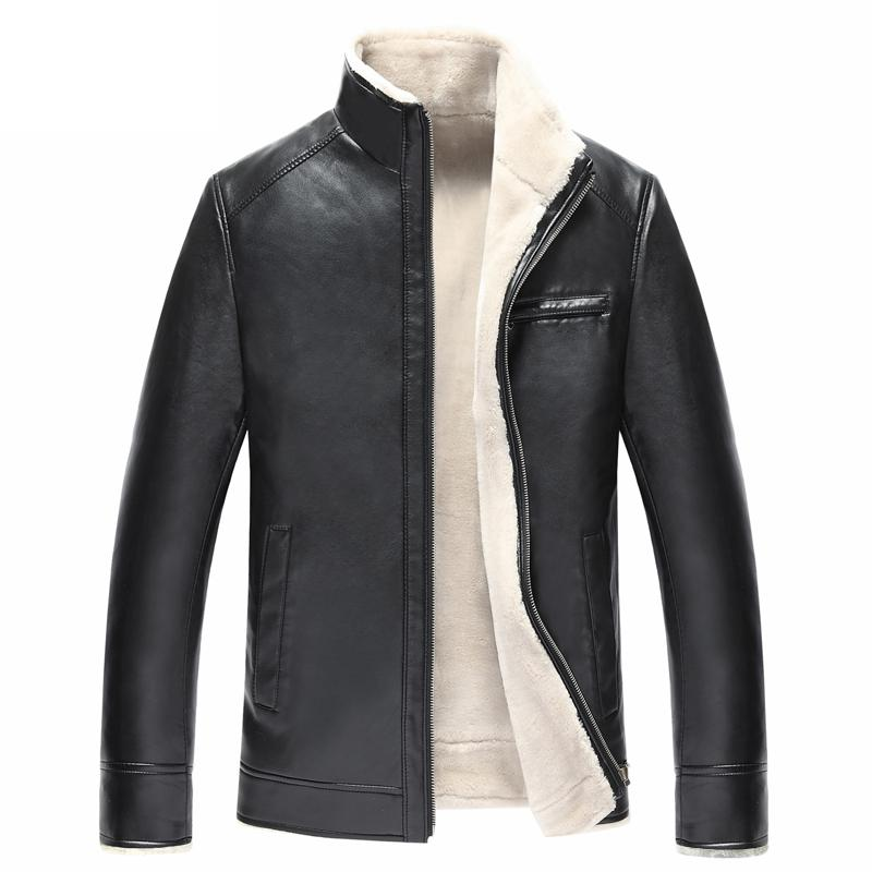Fleece Lined Leather Jacket Mens | Outdoor Jacket