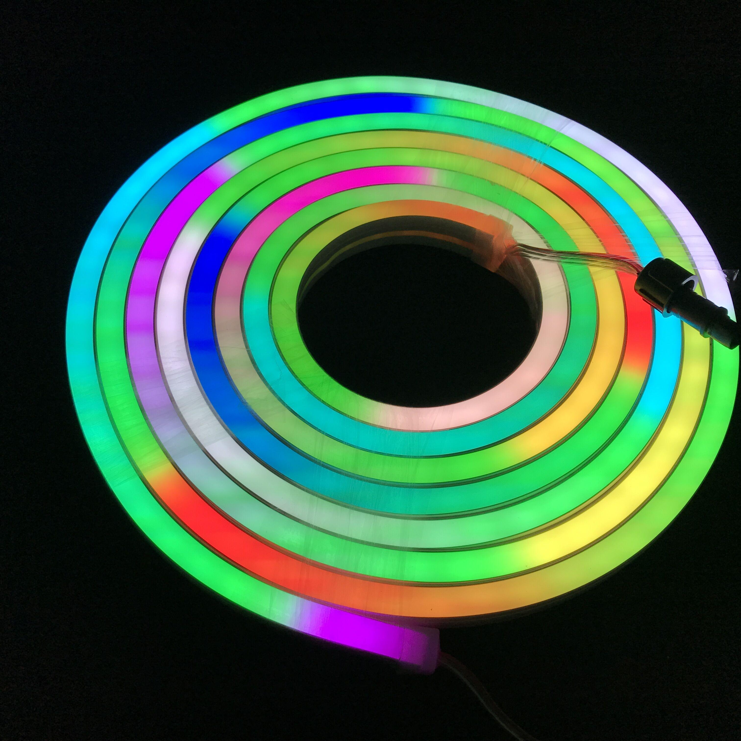 Işıklar ve Aydınlatma'ten LED Şeritler'de 12mm * 20mm boyutu/Düz yüzey/5 m uzun/20 piksel/m/60 LEDs/ m/DC12V WS2811 piksel rgb neon şerit işık; IP65 anma; 72 W title=