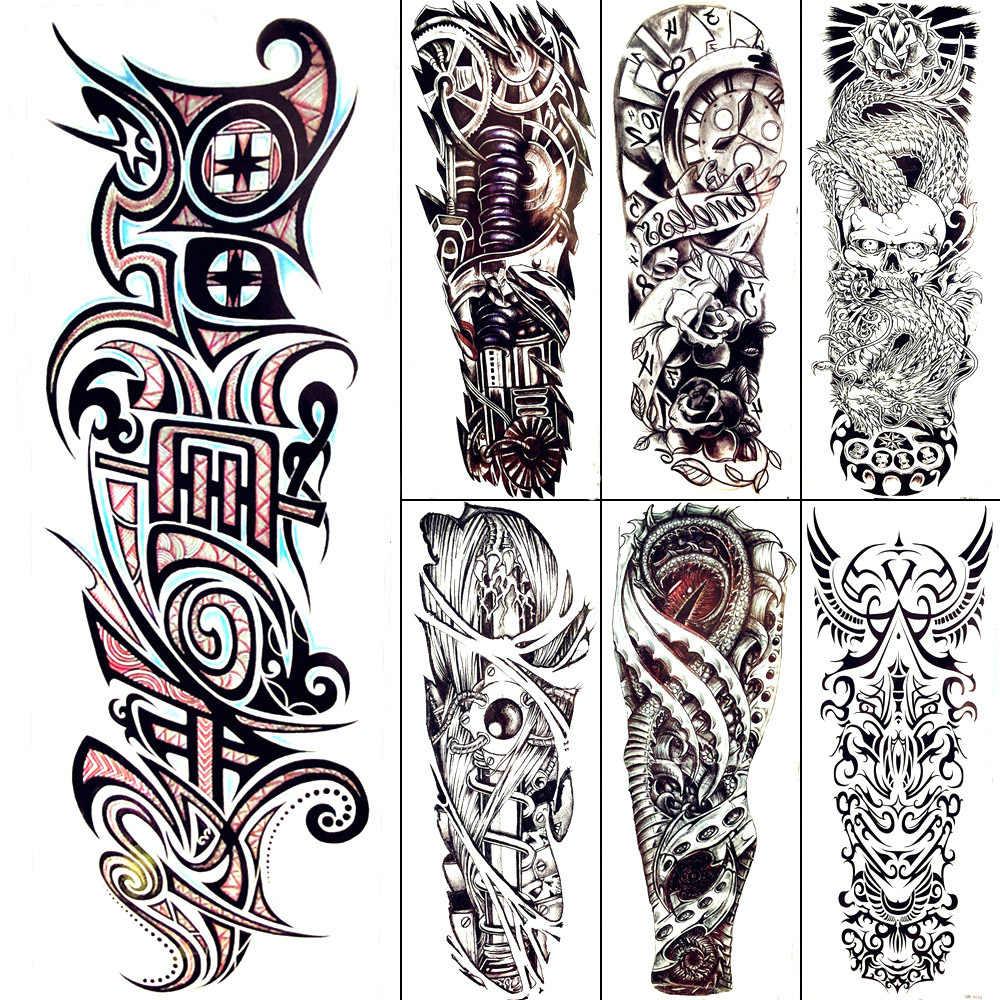 черная тотемная временная татуировка для мужчин крутые механические