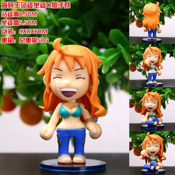 Q Version NaMi Standing Sitting Position 6cm PVC One Piece Two Years Later Anime Figure Doll Collection Decoration Model