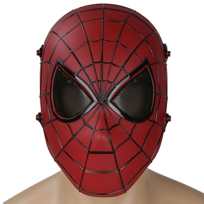 Spiderman Skull Full Face Cosplay Halloween Party Mask Mesh Military Army Wargame Airsoft Paintball Tactical Masks