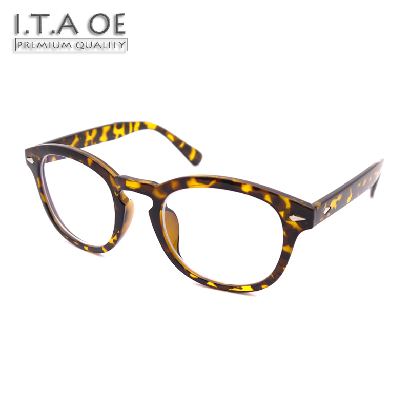 ITAOE Model Johnny Depp Acetate Men Optical Prescription Glasses Eyewear Frames Spectacles 144mm