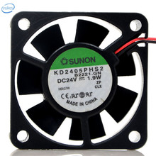 DHL Free Original KD2405PHS2 DC 24V 1.9W 0.08A 5015 50*50*15mm 2 Wires Computer Blower Double Ball Cooling Fan
