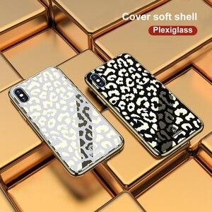 Image 5 - OTAO nouveau étui pour iphone 7 8 Plus 6 6 S étui pour iphone X XS MAX XR en verre plaqué léopard