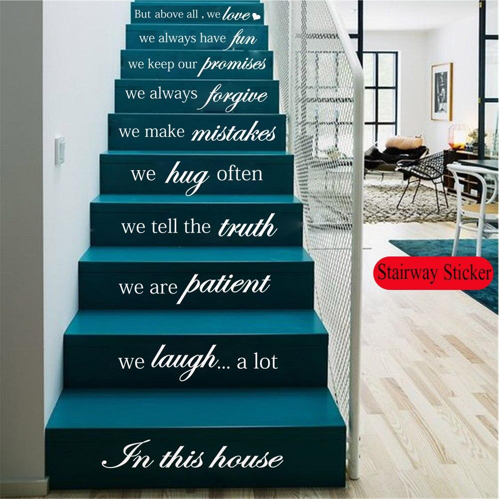 Us 11 26 17 Off Art Quotes Sentence Wall Sticker Mirror Adesivi Bts Custom Home Room Decoration Accessories Stairway Sticker Mural Bedroom Decor In