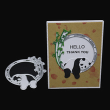 AZSG Lovely Panda Bamboo Cutting Dies For DIY Scrapbooking Decoretive Embossing Decoative Cards Die Cutter