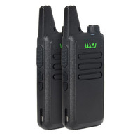 שני הדרך 2pcs WLN KD-C1 / KD-C2Walkie Talkie UHF 400-470 מגהרץ 5W כוח 16 ערוץ Kaili MINI כף יד משדר C1 שני הדרך רדיו C2 (5)