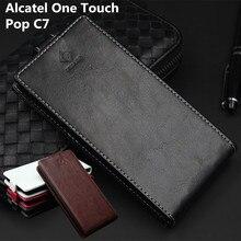 Классический роскошный топ кожа флип кожаный чехол для Alcatel One Touch POP C7 OT 7041X 7040D 7040F телефона чехол с карт памяти