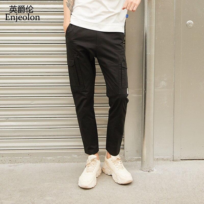 Enjeolon 2020 Men Harem Hip Pop Pants Trousers Streetwear Sweatpants Hombre Male Casual Fashion Cargo Pants Men KZ6364