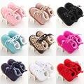 Девочка Новорожденных Коляски Кроватки Обувь Зима Теплая Малышей Младенческой Тапки Prewalker