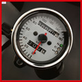 New Universal 12v Motorcycle Dual Odometer Speedometer Speed Gauge With Led Back Light