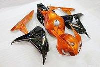 Orange Black Fairing Bodywork Injection for 2006 2007 Honda CBR 1000 RR CBR1000RR