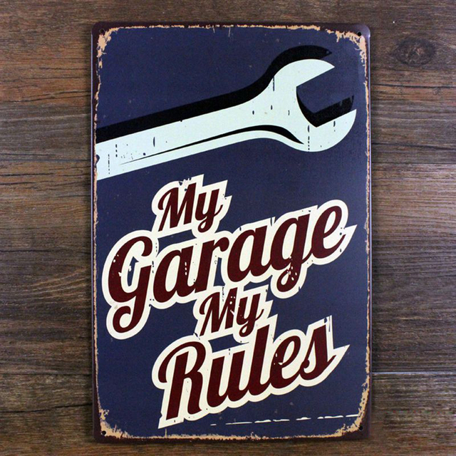 My Garage My Rules Vintage Tin Sign