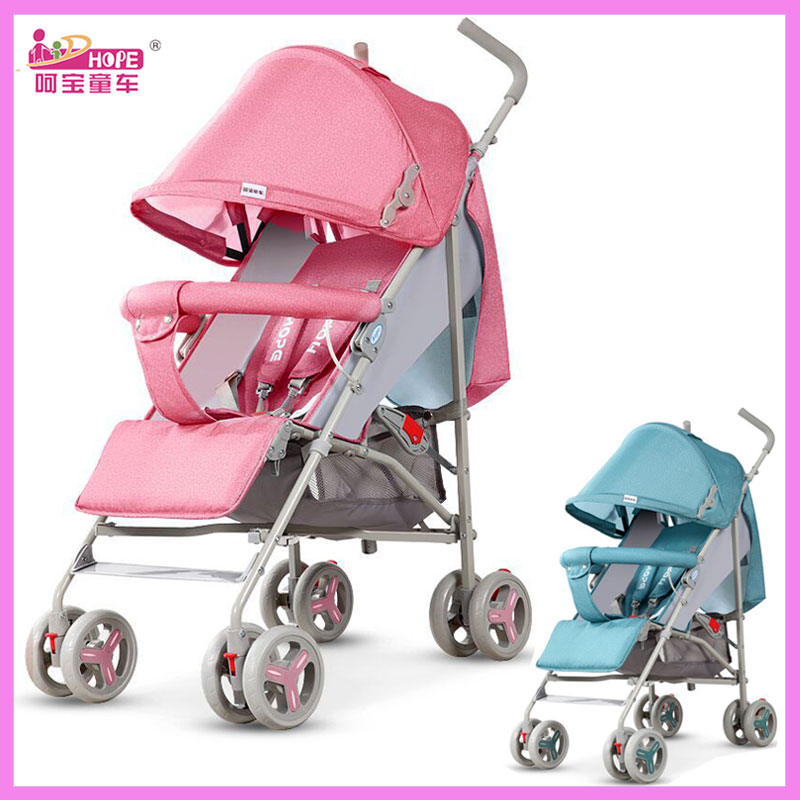 HOPE Baby Stroller Ultra Light Folding Travel Car Pram Can Sit Lie Child Summer Umbrella Stroller Four Wheels Baby Carriage 0~3Y quick folding small portable baby stroller folding umbrella wheelchair baby carriage travel system car baby trolley pram 0 3y