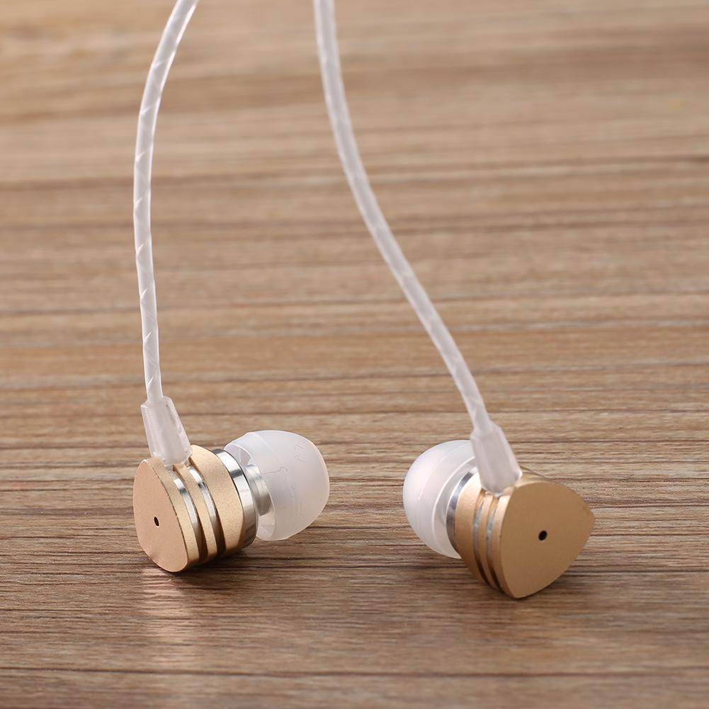 3.5mm In-ear Earphone with Mic Metal Super Bass Triangle Headphone Music Headset In-ear Earphone with Mic