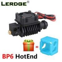 Imprimante 3D LERDGE BP6 Hotend Kit pièces d'extrudeuse j-head buse 0.4mm 1.75mm haute température et basse température remplacer les accessoires V6