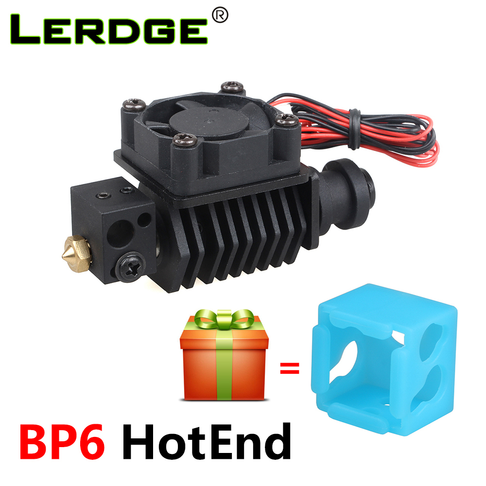 LERDGE 3D Printer BP6 Hotend Kit J-head Extruder Parts 0.4mm 1.75mm Nozzle High Temp and Low Temp Replace V6 Accessories 3 d printer accessories nozzle tube fittings peek j head accessories high temperature radiator pipe free shipping