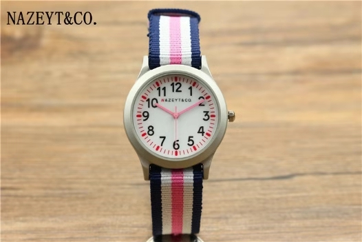 Children's Cartoon Quartz Watch Male And Female Student Pink Second Hand Color Watch
