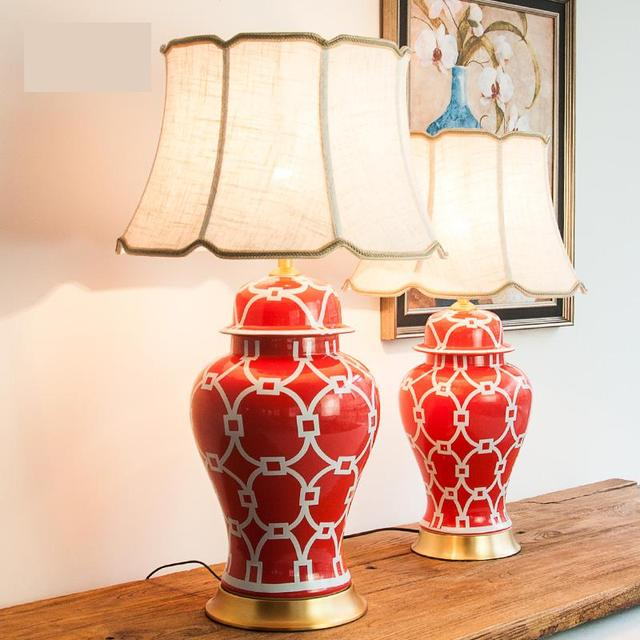 Red Table Lamps For Living Room   Baci Living Room