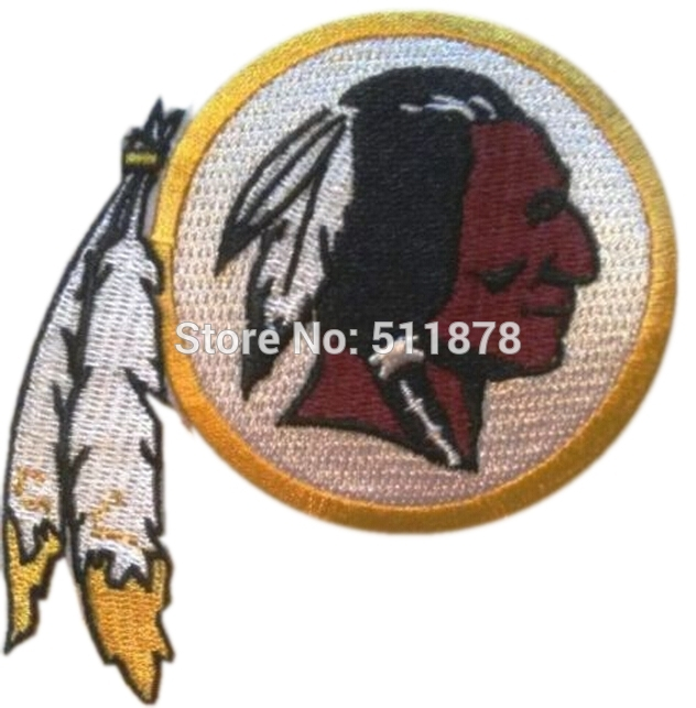 4 Indian Feather SEAN 21 WASHINGTON SPORTS APPLIQUE Embroidered Emblem IRON ON PATCH Logo Wholesale x