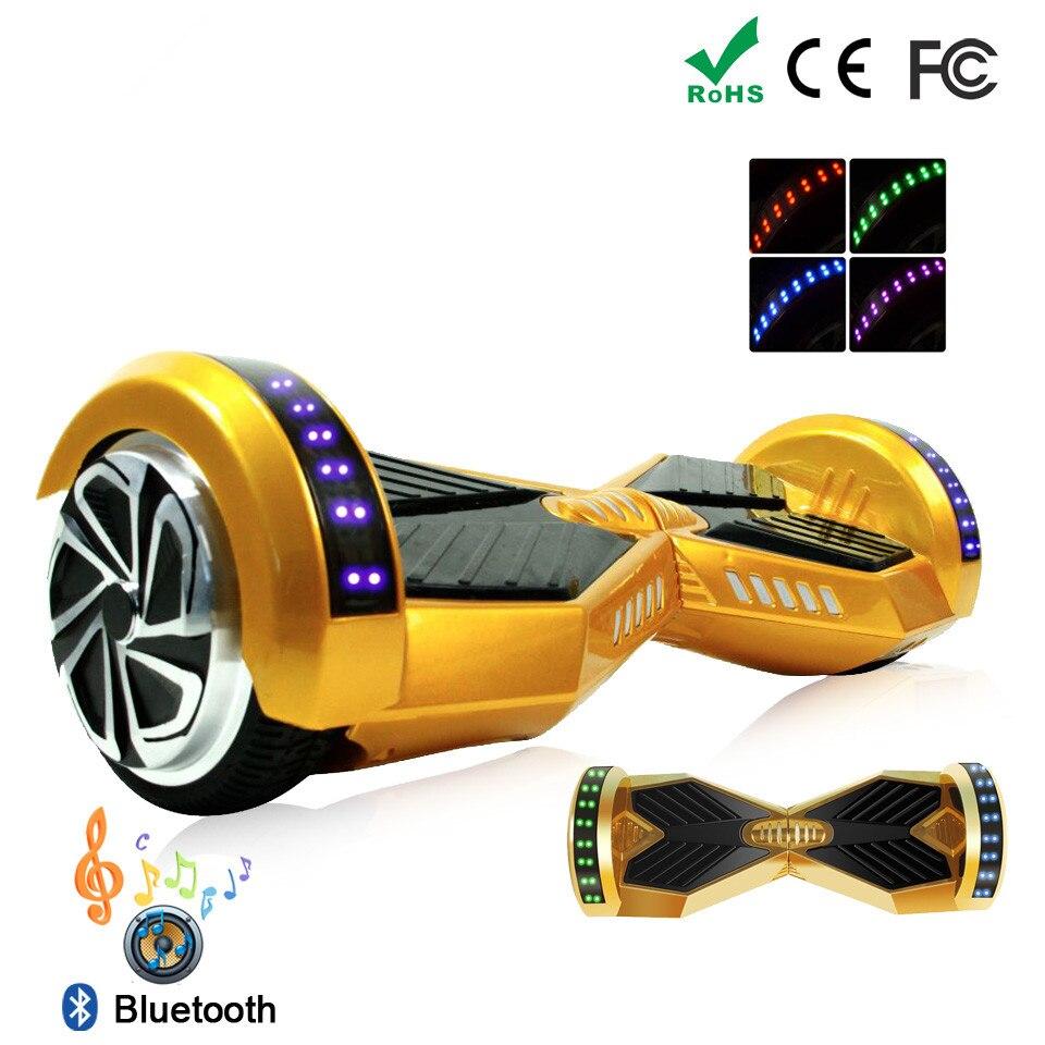 Couleur or 6.5 Pouces 8.0 Pouces 10 Pouces Hoverboard Scooter Electrique Puissant Monocycle Roue Hoverboard 6.5 Pouces