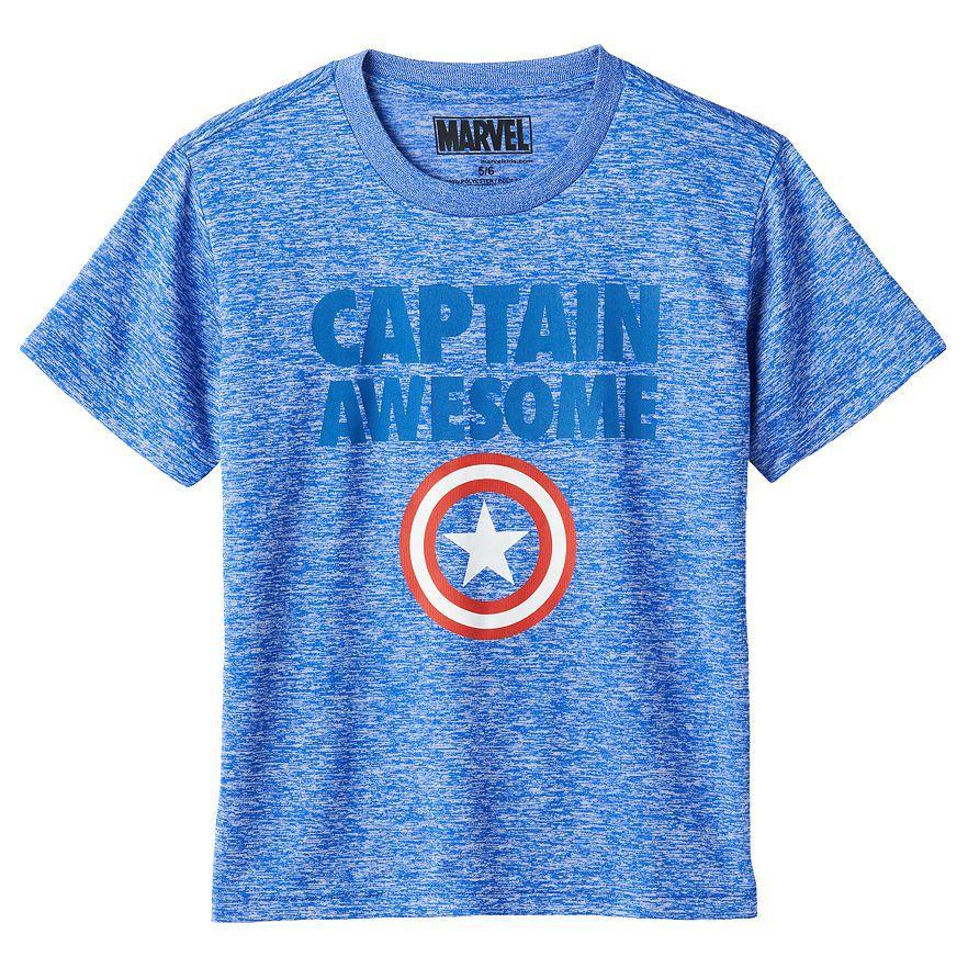 4 6y Marvel Captain America Captain Awesome Tee Boys