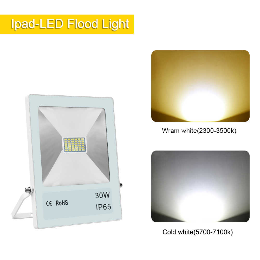 Waterproof floodlights10w 20w 30w 50w 70w 100w WW CW flood light outdoor refletor garden lighting lamp led  Spotlights night