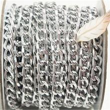 10 thước Bạc Kiềm Chế Dây Chuyền Cuộn, Nhôm, Dây Chuyền mở Chuỗi Liên Kết trên mỗi Liên Kết Kích Thước 10mm x 6mm Trang Sức Phát Hiện