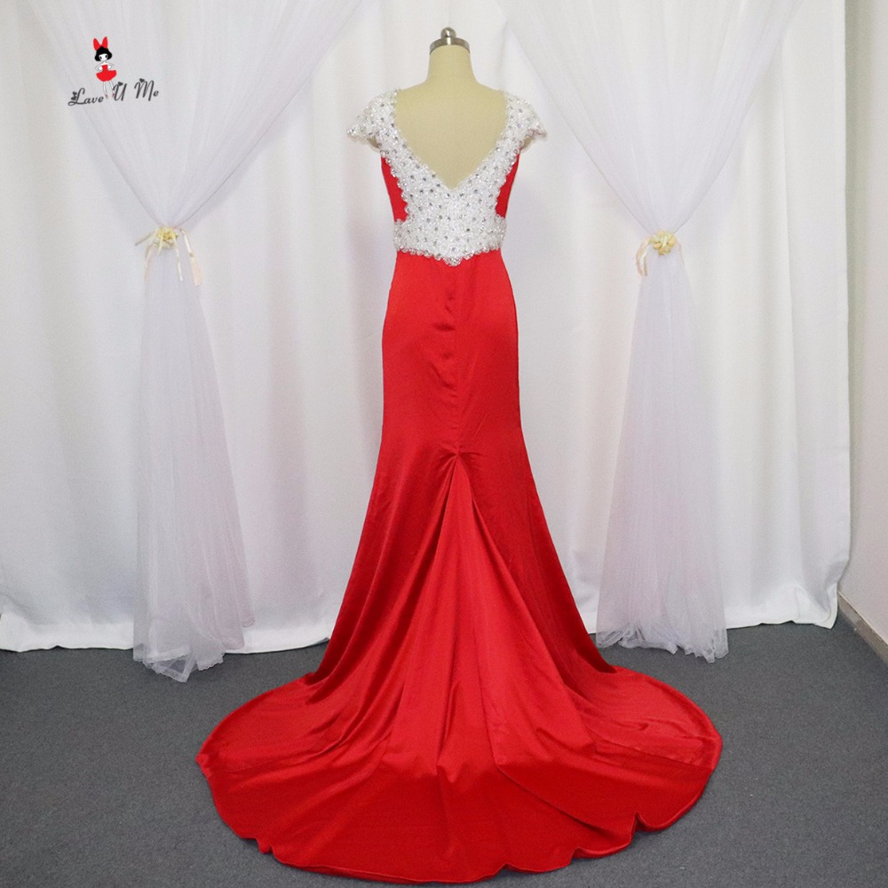 Elegant Real Sample Long Mermaid Prom Dresses 2017 Vestido De Noche Crystals Special Occasion Backless Formal Evening Gowns
