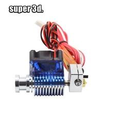 E3D V6 Уэйд короткое расстояние J-head Hotend 12 V/24 V для экструдера 1,75 мм/3,0 мм с охлаждающим вентилятором все металлические трости для 3D-принтера